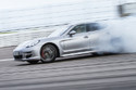 Porsche Panamera drifting at Porsche World Road Show 2013, Canadian Motorsport Park
